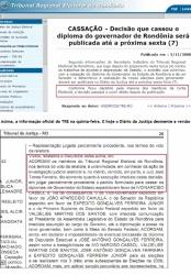 TRE PUBLICA DECISÃO QUE CASSOU GOVERNADOR E ACABA DESMENTINDO SUA NOVA VERSÃO