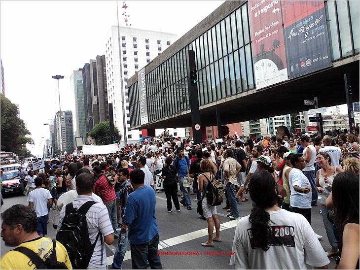 Rondoniense registra greve de professores em São Paulo