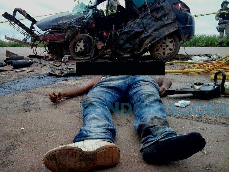 UM MORRE E TRÊS FICAM FERIDOS EM GRAVÍSSIMO ACIDENTE NA BR-364 EM JACY; Fotos