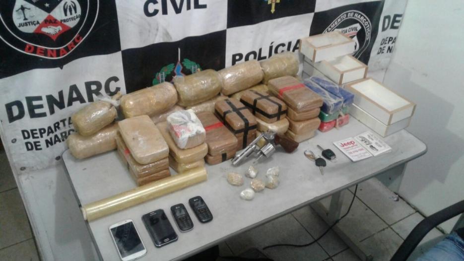 Em nova investida contra o tráfico, Denarc apreende mais 30 quilos de cocaína