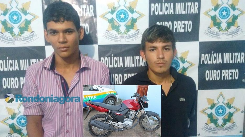 PM de Ouro Preto prende os ladrões da moto vermelha, que aterrorizavam mulheres na cidade