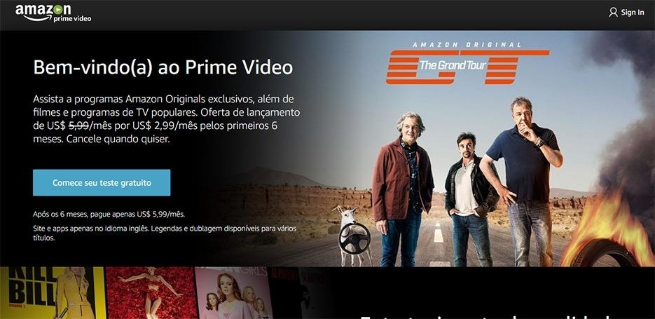 Concorrente do Netflix, Amazon PrimeVideo chega ao Brasil
