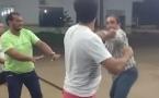 Vídeo: Ex-deputado estadual briga com radialista em Rolim de Moura