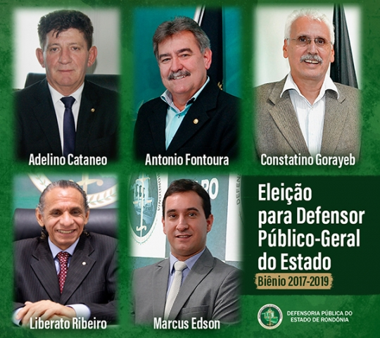 Cinco candidatos concorrem à lista tríplice para Defensor Público-Geral do Estado