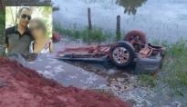 Uma pessoa morre e outra fica ferida após carro cair em rio