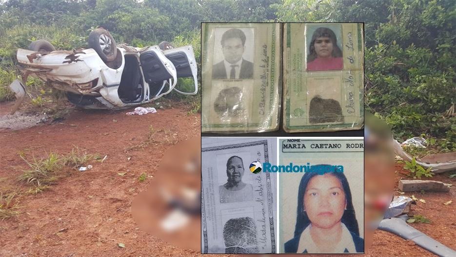 Identificadas as quatro vítimas fatais do grave acidente na BR-364 em Porto Velho