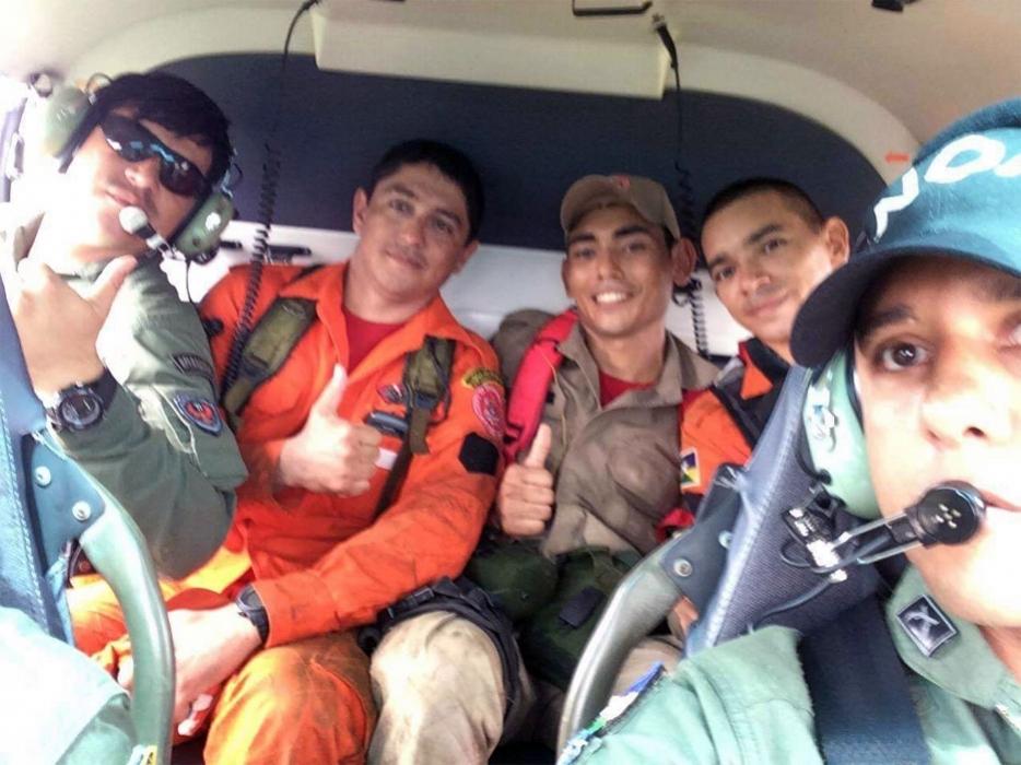 Após três dias perdido na mata, homem é resgatado com auxílio de helicóptero da Sesdec