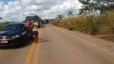 Manifestantes liberam a BR-364 em Jacy-Paraná