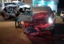 Fotos: Comerciante bêbado é preso após ultrapassar sinais vermelhos e destruir carros em Porto Velho