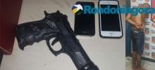 Jovem é preso após roubar celulares usando arma de brinquedo em Porto Velho