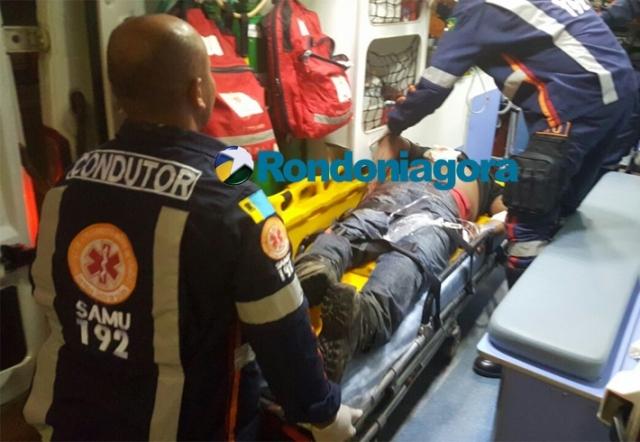 Bandidos roubam e tentam matar vítima com várias facadas em Porto Velho