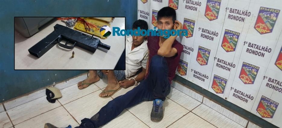 Polícia prende suspeitos de roubos com arma artesanal na Zona Leste