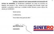 Sintero pede expedição de precatório e convoca servidores para assembleia