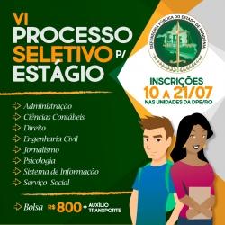 Defensoria Pública abre processo seletivo para estagiários em Rondônia