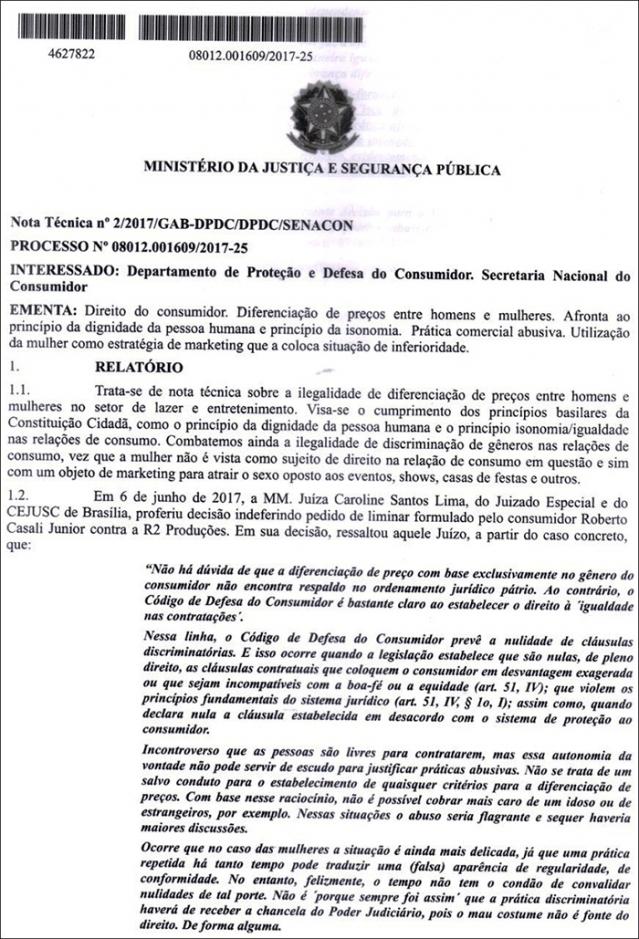 Procon em Rondônia vai exigir que clubes e boates cobrem o mesmo valor para entrada de homens e mulheres