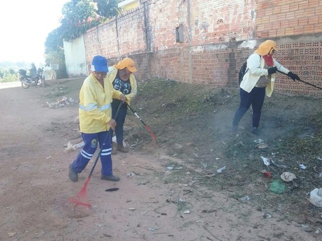 Semusb promove mutirão de limpeza no bairro Tucumanzal