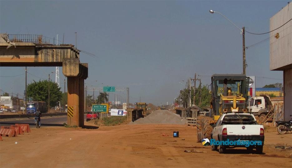Dnit avança na construção do elevado da Três e Meio e pavimentação da Rua da Beira