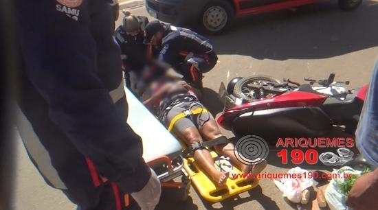 Mais dois motociclistas ficam feridos em acidentes de trânsito
