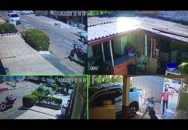 Vídeo mostra policial reagindo a assalto e baleando bandido em Porto Velho
