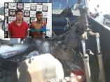 Policiais do 1º DP prendem irmãos foragidos com moto desmontada na capital