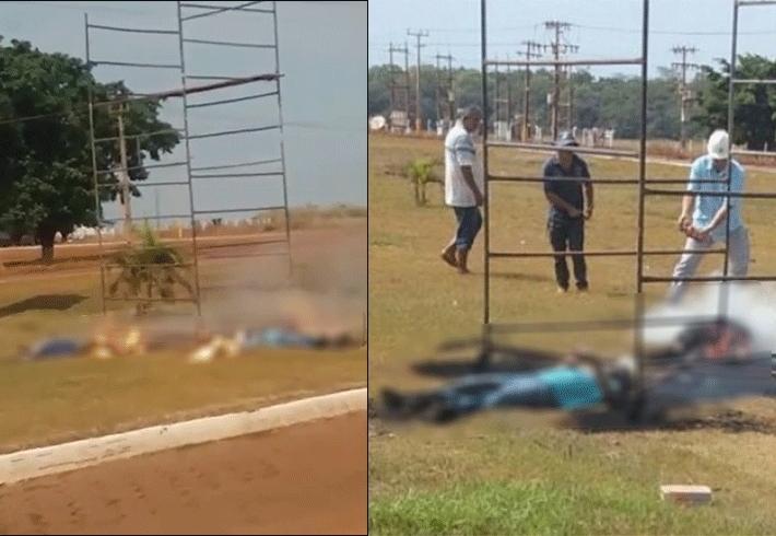 Vídeo: Dois trabalhadores rondonienses morrem eletrocutados em cidade do Mato Grosso