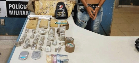 Jovem é preso com mais de 40 porções de maconha na Zona Leste