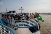 Barcos com jogadores e equipe da Semes seguem para Calama