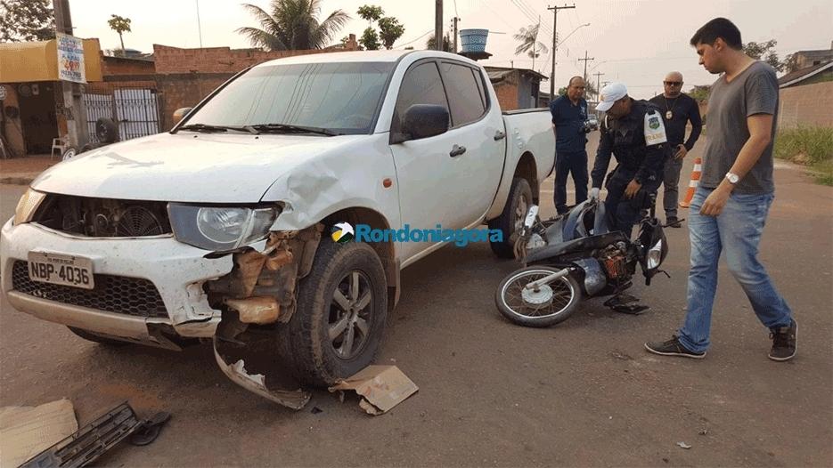 Motorista de camionete avança preferencial e mata motociclista em Porto Velho
