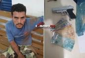 Foragido de Ji-Paraná é preso escondido dentro de freezer após assaltar comércio