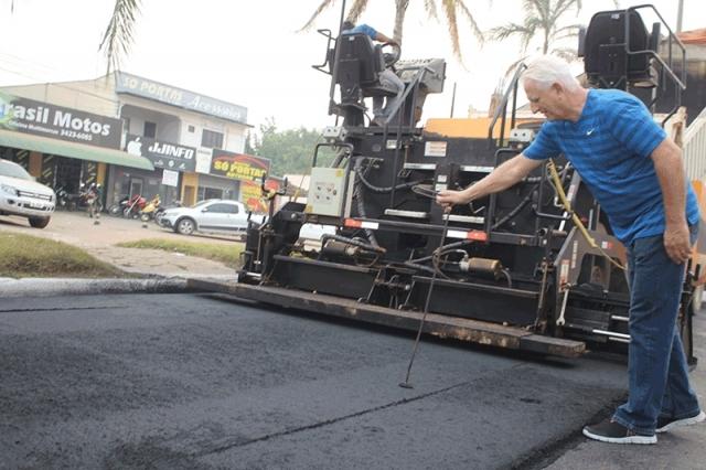 Deputado Airton comemora recapeamento de ruas com recursos de R$ 1 milhão de emenda parlamentar