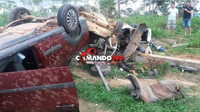 Cinco pessoas morrem em grave acidente na RO-480; uma criança está na UTI