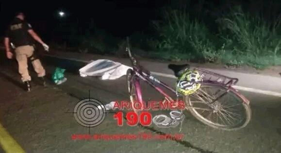 Homem tenta atravessar BR-364 e morre atropelado por duas motos