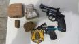 PRF apreende droga e armas em caminhão baú que transportava mudança na BR-364