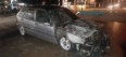 Fogo destrói carro próximo de posto de combustíveis na Capital