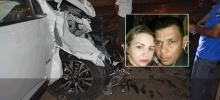 Acidente em viaduto entre caminhonete e moto deixa duas vítimas fatais