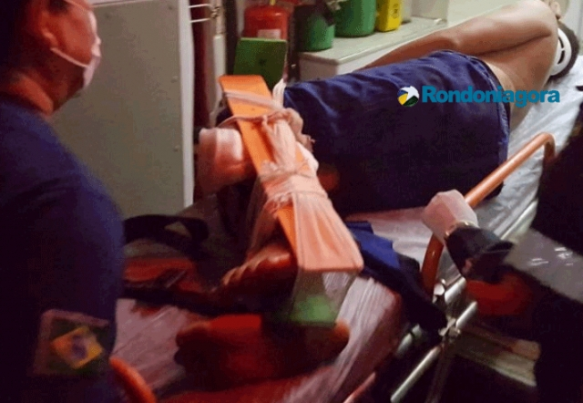 Jovem tem a perna amputada por carro de vizinho após discussão em Porto Velho