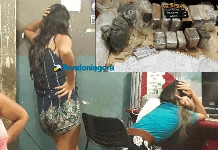 Três mulheres são presas com quase 4 quilos de maconha