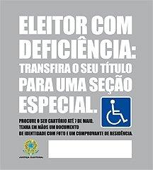 Eleitor deficiente tem até o dia 7 de maio para transferir título