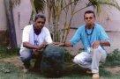 Pepino gigante de 27 quilos é colhido em Machadinho do Oeste