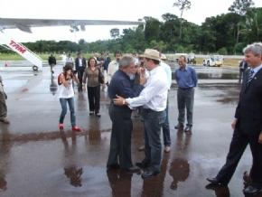 LULA EM RONDÔNIA: CONFIRA AS PRIMEIRAS IMAGENS NO ESTADO