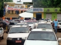 Clima tenso em protestos de taxistas e mototaxistas nesta quarta em Porto Velho