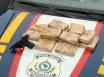 PRF apreende 7 quilos de droga e arma em Vilhena; veículo é recuperado