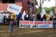 Grevistas do sistema penitenciário protestam na Madeira Mamoré
