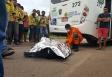 Motorista de ônibus mata motociclista na capital; fotos