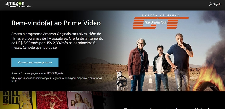Concorrente do Netflix, Amazon PrimeVideo chega ao Brasil