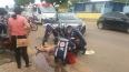 Motociclista de 70 anos fica ferida após colisão com automóvel em Porto Velho