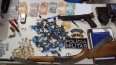 Polícia Militar apreende armas, munições e drogas em bar de Buritis