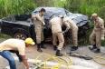 Idosos morrem em acidente entre caminhão e caminhonete na BR-364
