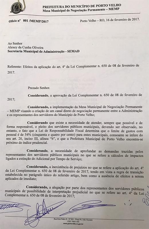 Prefeitura suspende efeitos da Lei que acabou com os quinquênios por 90 dias