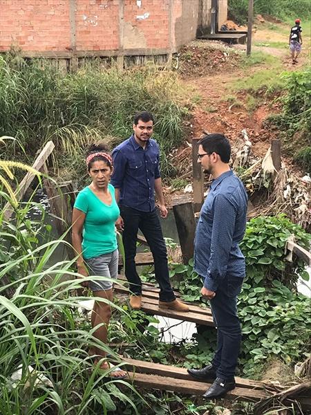 Deputado Expedito Netto visita bairro Costa e Silva e pede providências